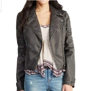 Aeropostale Cape Judy Faux Leather Jacket